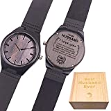 Customized Engraved Wooden Watch, Casual Handmade