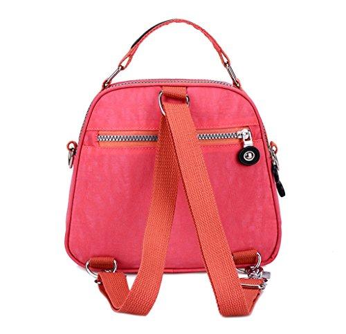 Tiny Chou Umhängetasche mit Handyfach, wasserfest, Nylon, doppellagig, in Bonbonfarben, als Handtasche oder Umhängetasche Pink 2