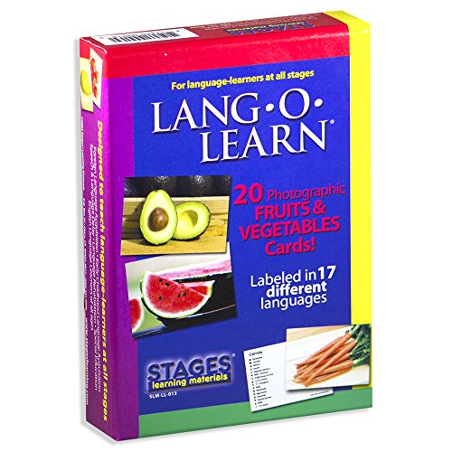 Stages Learning Materials Stages Learning Materials Lang-O-Learn ESL Fruits & Vegetables Vocabulary Cards Flashcards for English, Spanish, French, German, Chinese, Korean +More