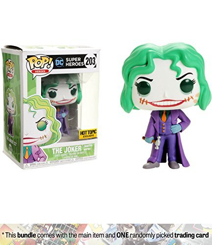 Funko The Joker [Martha Wayne] (Hot Topic Exclusive) POP! Heroes x DC Universe Vinyl Figure + 1 Official DC Trading Card Bundle (14402)