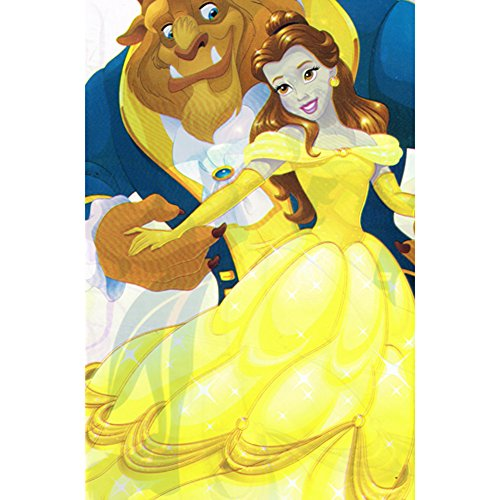 Beauty and the Beast 'Dream Big' Plastic Table Cover (1ct)