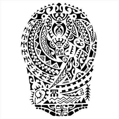 Tatuajes temporales maorí escudo para hombre y mujer, tatuaje ...