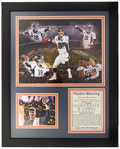Legends Never Die NFL Denver Broncos 2015 Super Bowl 50 Champions Peyton Manning Framed Photo Collage, 16