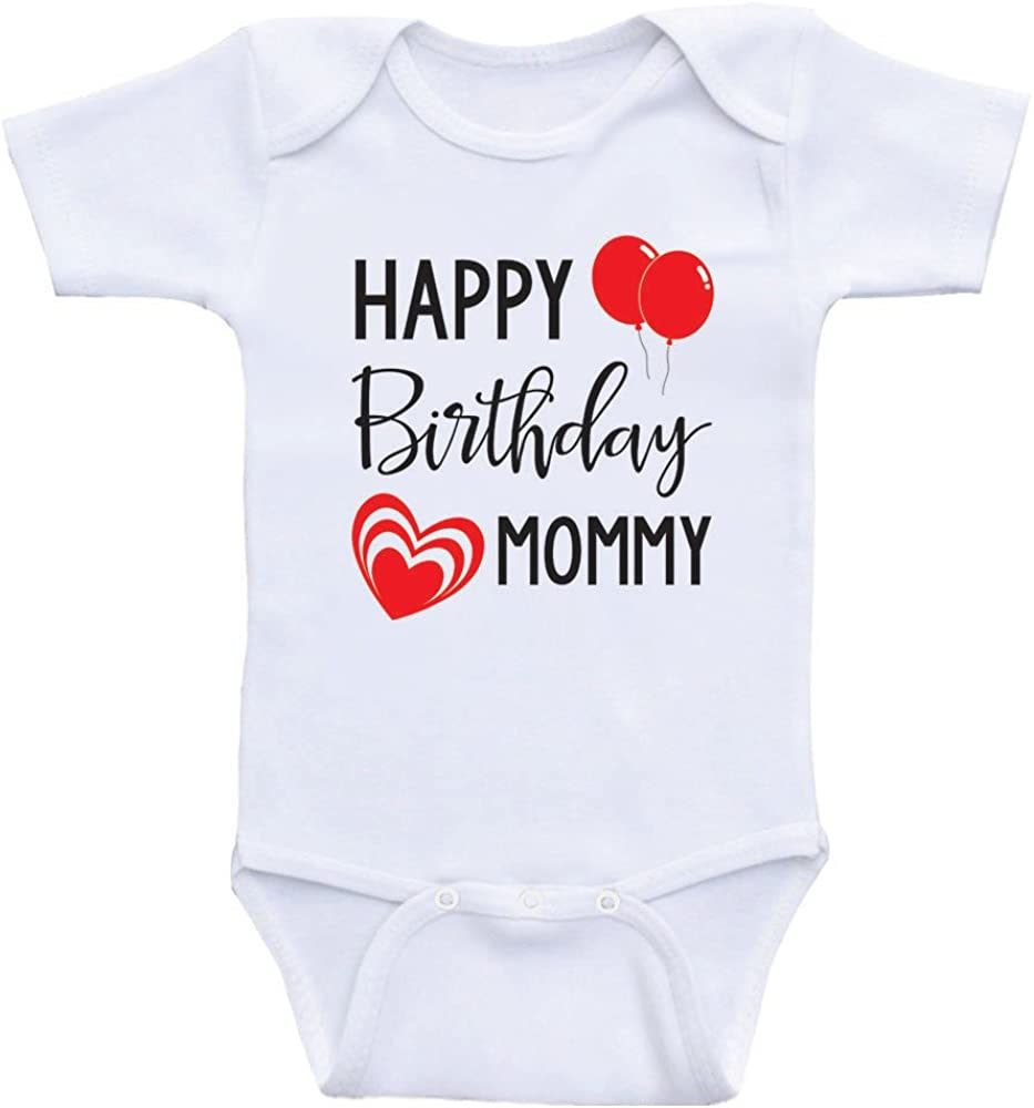 Heart Co Designs Birthday Clothes for Babies Happy Birthday Mommy Mom's Birthday Baby Onesie