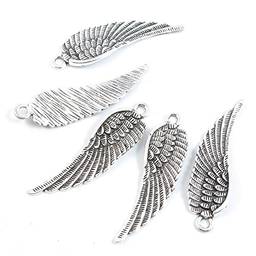 70 Pieces Antique Silver Tone Jewelry Making Charms Supply Wholesale C6BZ0 Angel -