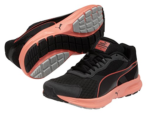 Puma Descendant v3 Wn - Chaussures de Running - Femme Noir (Black/Fiery Coral/Gray Violet)
