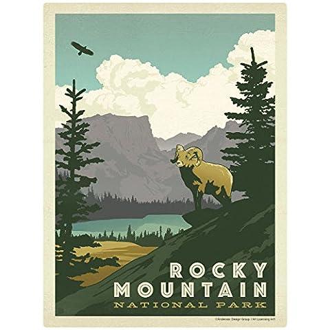 Rocky Mountain Natl Park Colorado Wall Decal 36 x 48 Nature Decor - Colorado Rocky Mountain Natl Park