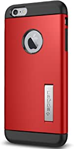 Spigen Slim Armor iPhone 6 Plus Case with Kickstand and Air Cushion Technology and Hybrid Drop Protection for iPhone 6S Plus/iPhone 6 Plus - Electric Red