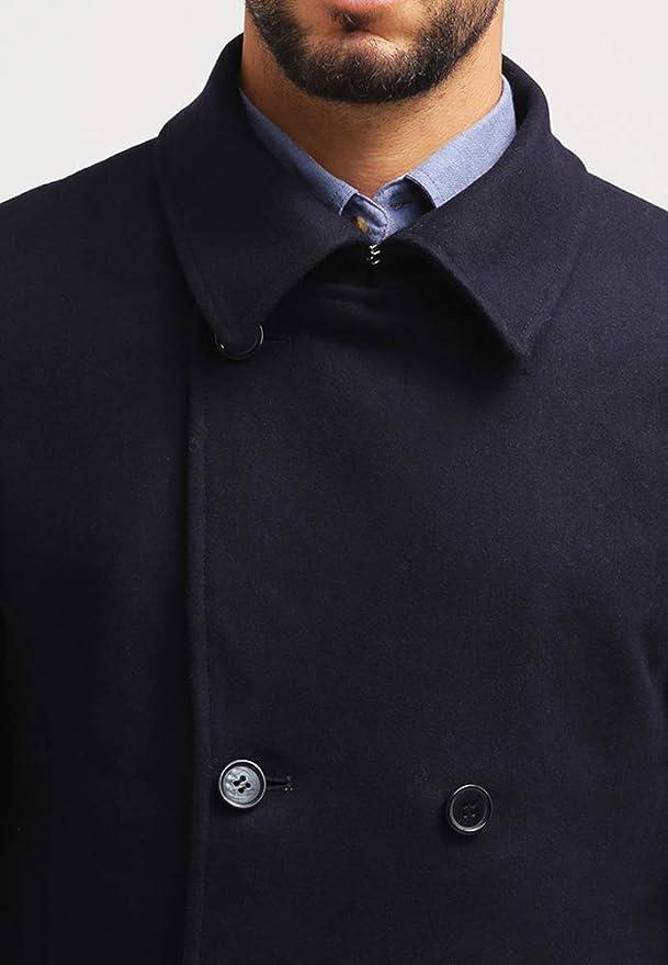 Pier One Cappotto di Lana da Uomo in Blu, Taglia S: Amazon