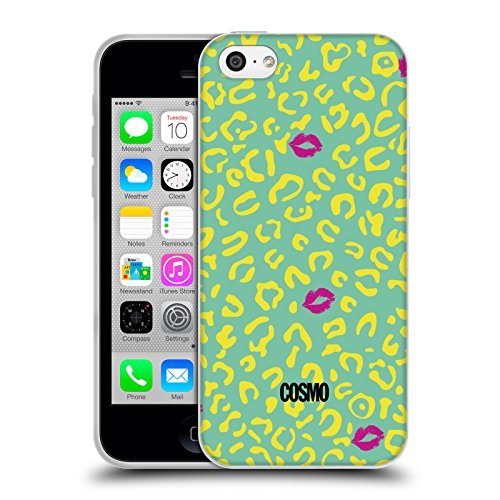 Official Cosmopolitan Mint Sassy Leopard Soft Gel Case for Apple iPhone 5c