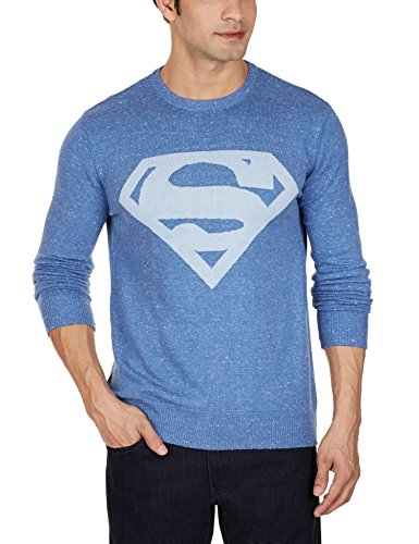 Superman Men's Cotton Blend Sweater
