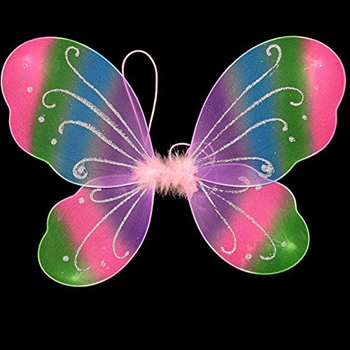 Girls Butterfly Craze Fairy Wings For Fairy Costumes Sparkle Fairy Princess Wings Party Favor (Old People Costume For Little Kids)