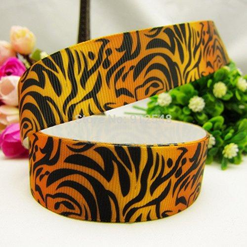 FunnyCraft 10 Yards 25Mm Animal Texture Tiger Pattern Series Printed Grosgrain Ribbon Diy Handmade Materials Headwear (Half Male Half Female Halloween Costume)