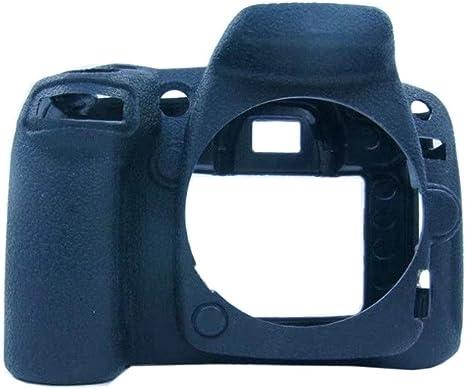 Funda de Silicona Carcasa de Silicona para cámara Nikon D90 Negro ...