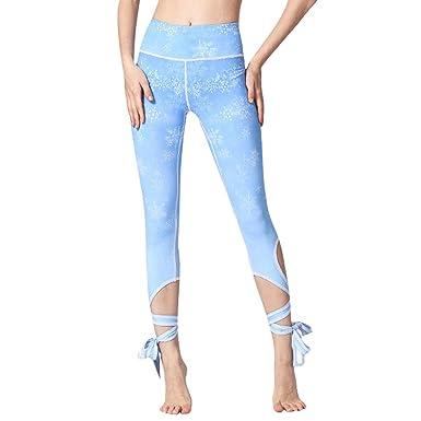 Pantalones de Yoga para Mujer - Impreso Cintura Alta Medias ...