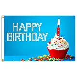 3ft x 5ft Decorative Flag - Happy Birthday Balloons
