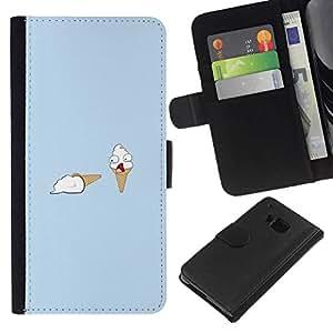 All Phone Most Case / Oferta Especial Cáscara Funda de cuero Monedero Cubierta de proteccion Caso / Wallet Case for HTC One M7 // Ice Cream Murder - Funny