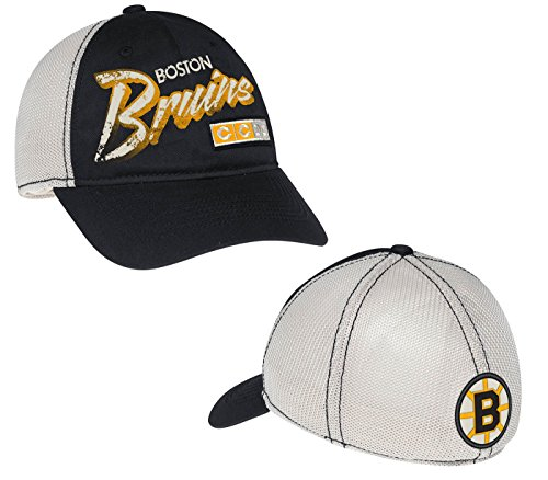 Boston Bruins CCM Distressed Meshback Flex Fit Hat (L/XL)