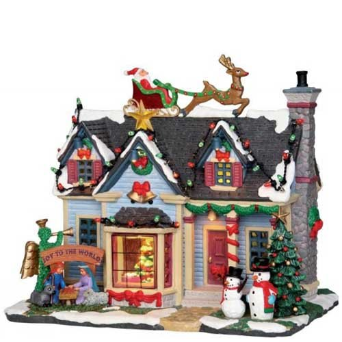 Lemax Christmas - Best Decorated House with 4.5V Adaptor - Lemax Houses Village