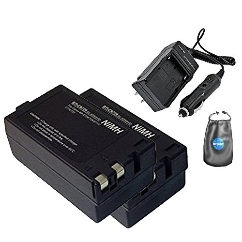 ValuePack (2 Count): Digital Replacement Camera and Camcorder Battery for Canon BP-729, BP-726, BP-714 - Includes Lens Pouch