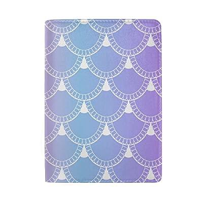 f90b4153815e 50%OFF ColourLife Fish Scales Leather Passport Holder Passport Cover for  Men Women Kids