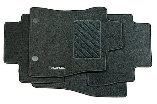 NISSAN JUKE 2010 ON TAILORED BLACK CAR MATS WITH RED TRIM