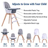 Baby High Chair with Double Removable Tray for