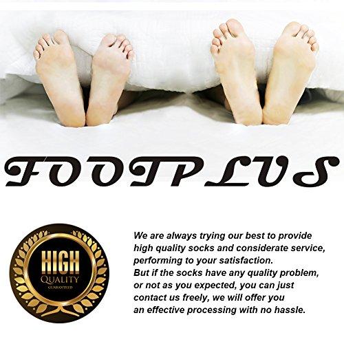 Antibacterial Athletic Socks, FOOTPLUS Men and Women Low Cut Copper Running Socks Moisture Wicking, 6 Pairs White Crew, Medium by FOOTPLUS (Image #3)