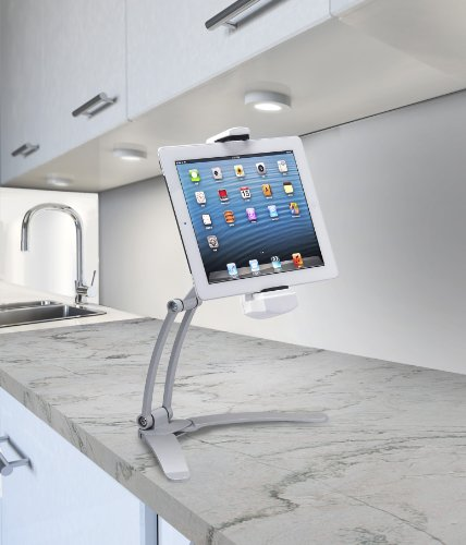 CTA Digital 2-in-1 Kitchen Tablet Stand And Adjustable