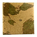 TYJY- Creative Map Photo Album, PU Cover Page Business Book, 200 Photos - Panorama 6''(6x4.5'' )