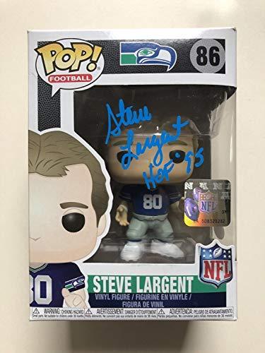 (Steve Largent Autographed Signed Seahawks Pop Funko Football Figure Hof 95 JSA)