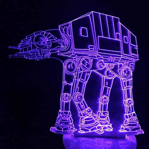 LightEstéreo 3D luz Star Wars Robot Perro ATAT luz LED Madera ...