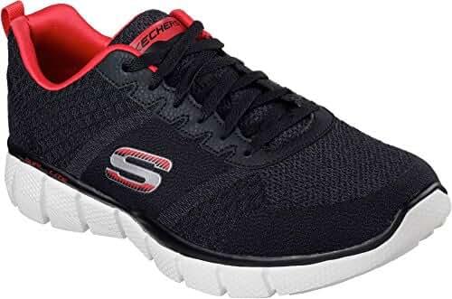 Skechers Mens Equalizer 2.0 - True Balance Sneaker Black/Red Size 8.5