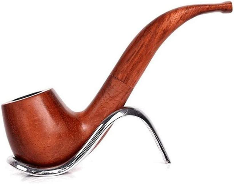 Hand Made 9mm Filter Classic LHJ-fashion Handmade Red Sandalwood Detachable Curved Handle Solid Wood Pipe Wooden Tobacco Smoking Pipe