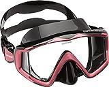 Cressi Liberty Triside Spe Diving Mask, Black/Black/Pink