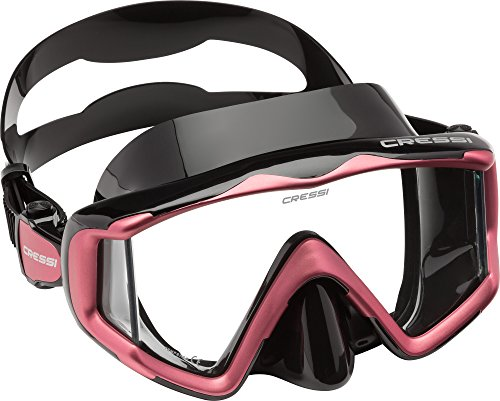 Cressi Liberty Triside Spe Diving Mask, Black/Black/Pink