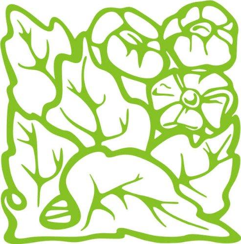 WANDTATTOO / Wandaufkleber - e75 schöne Blättergewirr 120x118 cm - gelbgrün
