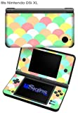 Brushed Cirlces Multi Light - Decal Style Skin fits Nintendo DSi XL (DSi SOLD SEPARATELY)