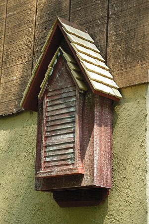 In the Garden and More Weathered Redwood Victorian Bat House