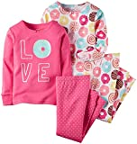 Carter's Baby Girls' 4 Piece PJ Set (Baby) - Donuts - 6 Months