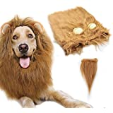 Gimilife Dog Costume Lion Mane Wig(L Size,Light Brown)