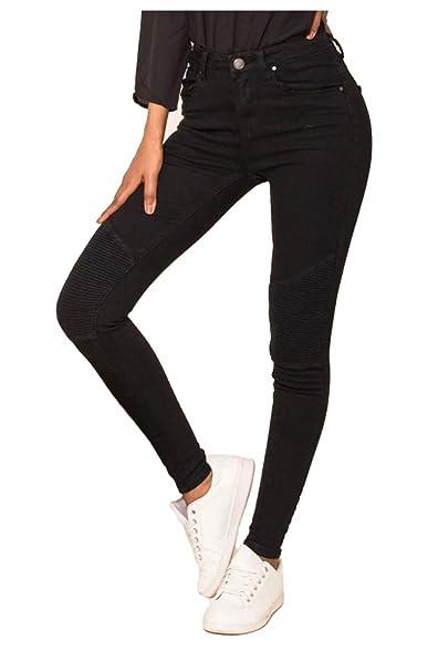 Nina Carter Mujer Vaqueros Biker Pitillos Pantalones Jeans ...