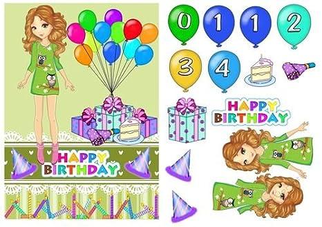 Tarjeta de felicitación de cumpleaños para niña de Sharon ...
