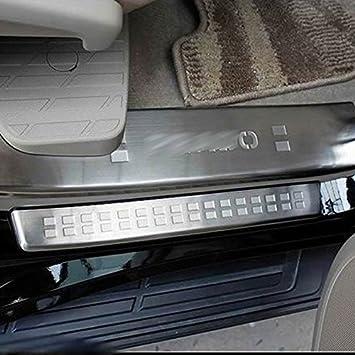 kadore para Nissan Qashqai 2014 2015 2016 umbral de la puerta lateral pantalla acero inoxidable: Amazon.es: Coche y moto