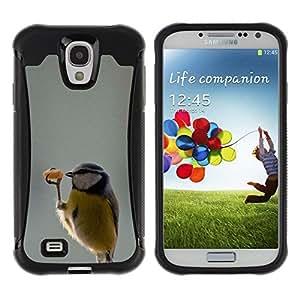 LASTONE PHONE CASE / Suave Silicona Caso Carcasa de Caucho Funda para Samsung Galaxy S4 I9500 / funny cute bird dancer winter sweet
