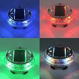 JOJOO 2-Pack Solar Power Car Wheel Light Waterproof Auto Tire Light RGB Flashing Colorful Wheel Lights Safety Light Motion Sensors for Car SUV Truck MA017