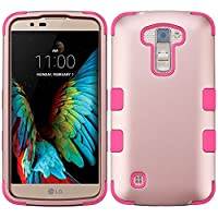 Asmyna Cell Phone Case for LG K10 - Rose Gold/Electric Pink