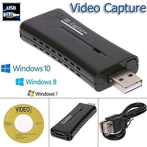 (S-Digital-Office Mini Portable HD USB 2.0 Port HDMI Monitor Video Capture Card for Computer)