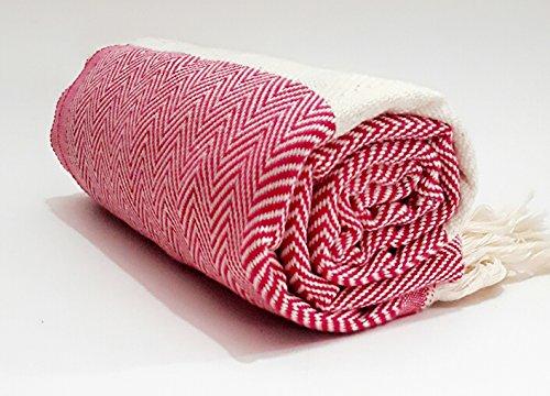 Turkish Cotton Bath Beach Spa Hammam Yoga Gym Yacht Hamam Towel Wrap Pareo Fouta Throw Peshtemal Pestemal Sheet Blanket by Paramus (1, pink)