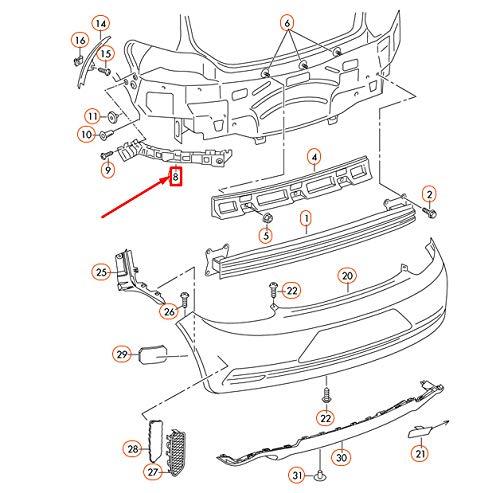 GTV INVESTMENT Scirocco MK3 Hecksto/ßstangenhalterung rechts 1K8807394D
